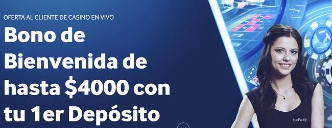 Betway Casino en Vivo Bono de Bienvenida